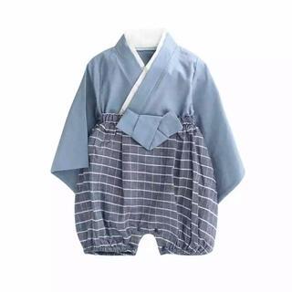 袴 90 青(和服/着物)