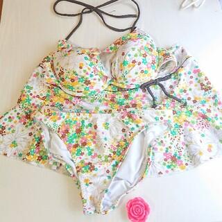 アールユー(RU)のRU 水着 ビキニ セット 花柄 スカート付き(水着)