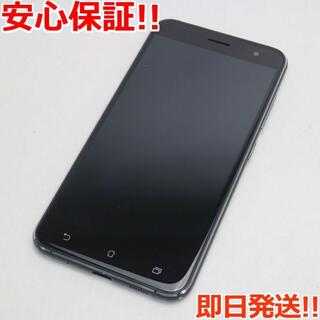 ゼンフォン(ZenFone)の美品 SIMフリー zenfone 3 ZE520KL ブラック (スマートフォン本体)