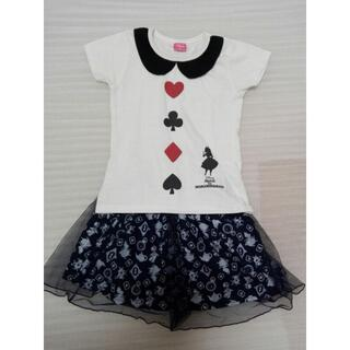 ディズニー(Disney)の(130) 不思議の国のアリス 半袖T & スカート ディズニー(スカート)