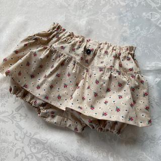 ハンドメイド ベビースカート付きブルマ、かぼちゃパンツ70.80サイズ(スカート)