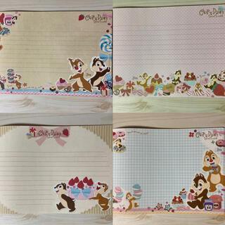 ディズニー(Disney)のチップとデール ディズニー レター 便箋 手紙 メモ(カード/レター/ラッピング)