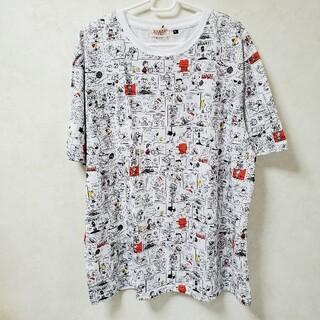 ピーナッツ(PEANUTS)のスヌーピーコミック柄ビッグTシャツ 3L(Tシャツ/カットソー(半袖/袖なし))