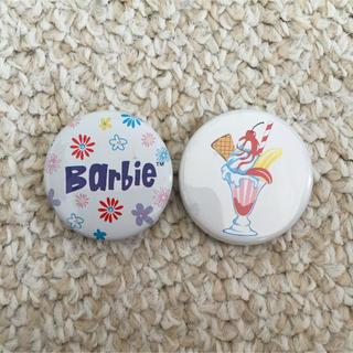 バービー(Barbie)の缶バッチセット(ブローチ/コサージュ)