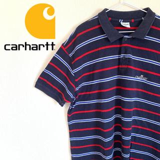 カーハート(carhartt)のcarhartt カーハート ポロシャツ 刺繍ロゴ ワンポイント オーバーサイズ(ポロシャツ)