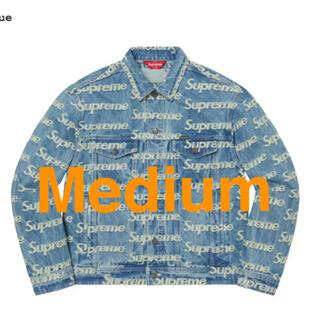 シュプリーム(Supreme)のM Supreme Frayed Logos Denim Jacket(Gジャン/デニムジャケット)