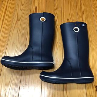 クロックス(crocs)のcrocs レインブーツ レディース ネイビー(レインブーツ/長靴)