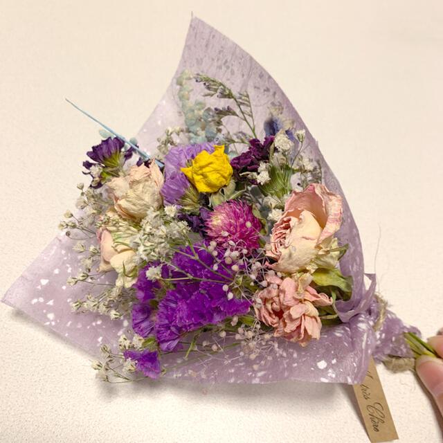 ドライフラワー 母の日スワッグ 64 ブーケ 花束 インテリア ハンドメイドのフラワー/ガーデン(ドライフラワー)の商品写真