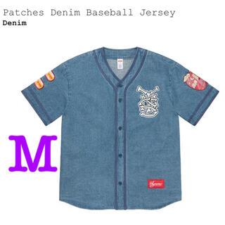 シュプリーム(Supreme)のSupreme Patches Denim Baseball Jersey M(Gジャン/デニムジャケット)