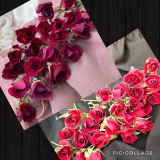大容量!ミニ薔薇(茎長め)ドライフラワー★25輪セット+おまけ2輪付き★花材(その他)