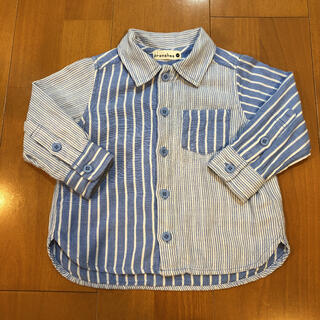 ブランシェス(Branshes)のチェックシャツ 80cm(シャツ/カットソー)