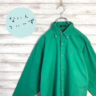 【USA製】90s ラルフローレン 刺繍ロゴ ワンポイント BDシャツ(シャツ)
