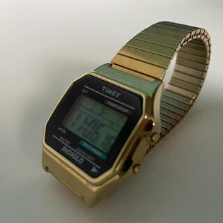 タイメックス(TIMEX)のTIMEX / ゴムバンド デジダル腕時計 ユニセックス / ゴールド(腕時計)