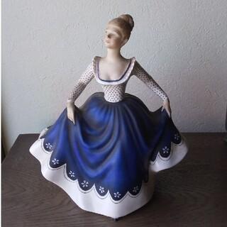 ロイヤルドルトン(Royal Doulton)のRoyal Doulton ロイヤル ドルトン 青いドレスのフィギュア(置物)