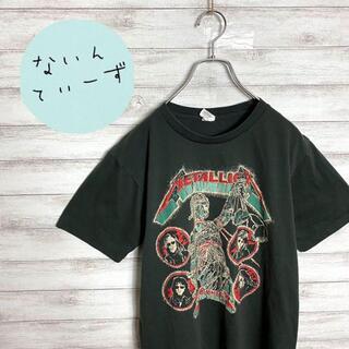 【入手困難】90s メタリカ  両面プリント ブラック バンドTシャツ バンティ(Tシャツ/カットソー(半袖/袖なし))