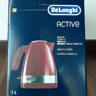 デロンギ(DeLonghi)のDeLonghi デロンギ アクティブ電気ケトル KBLA1200J-R 1L(電気ケトル)