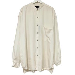 フランクリーダー(FRANK LEDER)の80's デッドストック phiz シャツ シルク ノーカラー ホワイト L(シャツ)