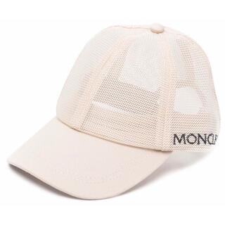 モンクレール(MONCLER)の【新作】モンクレール メッシュ キャップ ベージュ L(キャップ)
