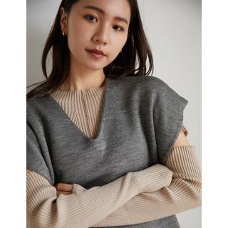 RANDEBOO Silhouette knit vest (Gray)(ベスト/ジレ)