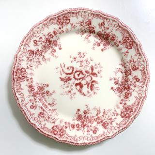 ザラホーム(ZARA HOME)のアンティーク プレート 花柄 レッド / パスタ  デザート皿(食器)