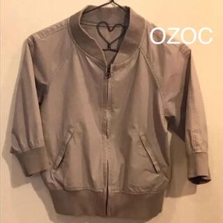 オゾック(OZOC)のOZOC  MA-1  7分袖 グレー ブルゾン(ブルゾン)