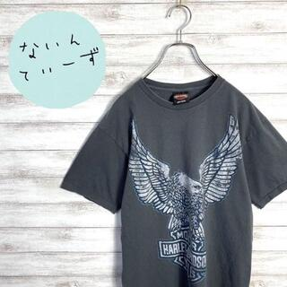 【メキシコ製】90s ハーレーダビッドソン ファルコンロゴ ダークグレーTシャツ(Tシャツ/カットソー(半袖/袖なし))