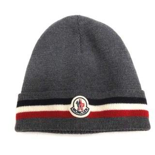 モンクレール(MONCLER)のモンクレール MONCLER BERRETTO ニット帽 ビーニー グレー (その他)