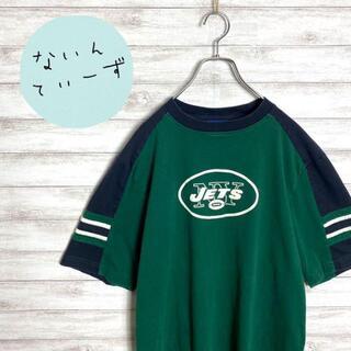 リーボック(Reebok)の【アースカラー】NFL×リーボック JETS グリーン センターロゴ Tシャツ(Tシャツ/カットソー(半袖/袖なし))