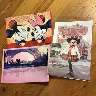 ディズニー(Disney)のディズニーシー限定ポストカードとデヴィッド・ヴィラードソンのポストカードセット(写真/ポストカード)