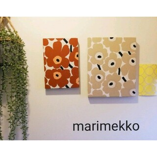 マリメッコ(marimekko)の【2個セット!】marimekko 木製ファブリックパネル ミニウニッコ 北欧柄(アート/写真)