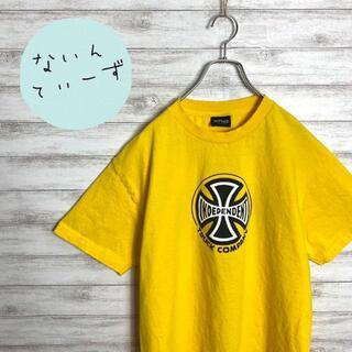 【入手困難】90s インディペンデント イエロー センターロゴ Tシャツ(Tシャツ/カットソー(半袖/袖なし))