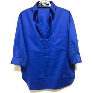 アイシービー(ICB)の鮮やかブルー ICB  麻混 七分袖 プルオーバー 11号(シャツ/ブラウス(長袖/七分))