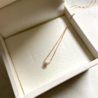 ete - ete ネックレスk18 ダイヤモンド0.05 刻印あり