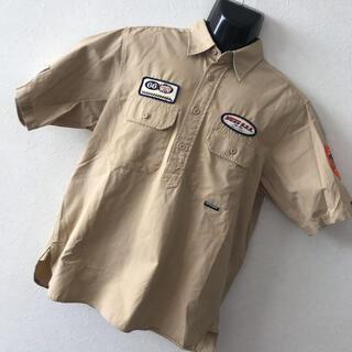 ヴァンズ(VANS)の希少 VANS バンズ ゆるダボ ロゴワッペン デカロゴ 半袖 ワークシャツ M(シャツ)