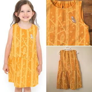 グラニフ(Design Tshirts Store graniph)のグラニフ フクロウ柄 ワンピース ジャンパースカート(ワンピース)