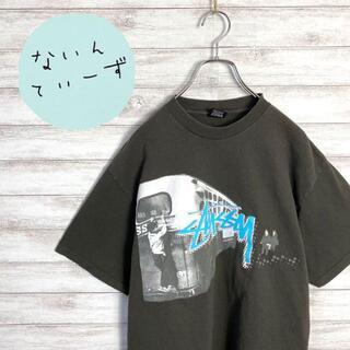 ステューシー(STUSSY)の【メキシコ製】ステューシー カーキグリーン フォトロゴ ビックサイズ Tシャツ(Tシャツ/カットソー(半袖/袖なし))