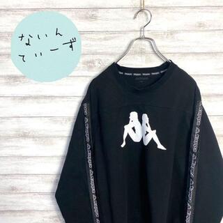 カッパ(Kappa)の【入手困難】kappa カッパ デカロゴ サイドライン ビックサイズ ロンT(Tシャツ/カットソー(七分/長袖))