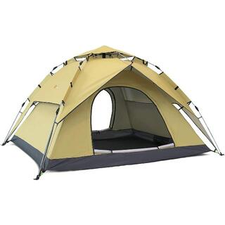 TTK1-T ワンタッチテント 2-4人用 2重層 キャンプ テント ワンタッチ(旅行用品)