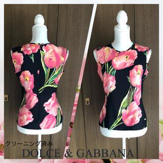 DOLCE&GABBANA - ♡ドルチェ&ガッバーナの花柄のトップス…I40♡