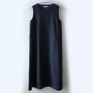 エヴァムエヴァ(evam eva)のevam eva linen sleeveless OP(ロングワンピース/マキシワンピース)