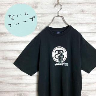 ステューシー(STUSSY)の【メキシコ製】90s ステューシー Sリンク DJロゴ ブラック Tシャツ(Tシャツ/カットソー(半袖/袖なし))