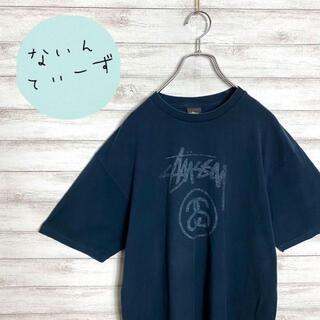 ステューシー(STUSSY)の【メキシコ製】ステューシー ネイビー Sリンク センターロゴ Tシャツ(Tシャツ/カットソー(半袖/袖なし))