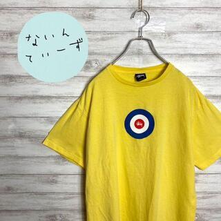 ステューシー(STUSSY)の【USA製】90s オールドステューシー イエロー ターゲットロゴ Tシャツ(Tシャツ/カットソー(半袖/袖なし))