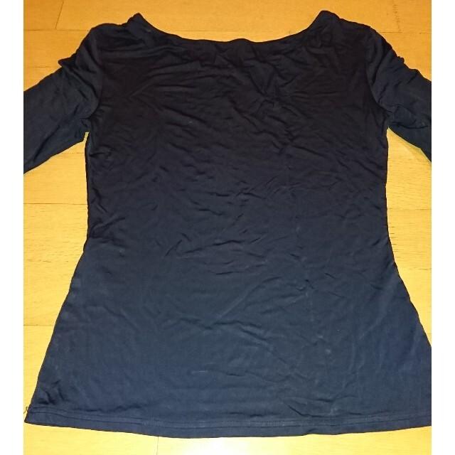 Yohji Yamamoto(ヨウジヤマモト)のヨウジヤマモト ノアール 半袖カットソー レディースのトップス(カットソー(半袖/袖なし))の商品写真