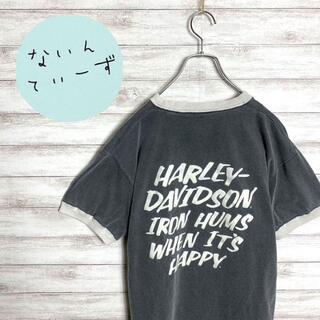 【入手困難】90s ハーレーダビッドソン バックプリント リンガーTシャツ(Tシャツ/カットソー(半袖/袖なし))