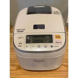 パナソニック(Panasonic)のPanasonic SR-PB105-W おどり炊き 5.5合 ホワイト 完動品(炊飯器)