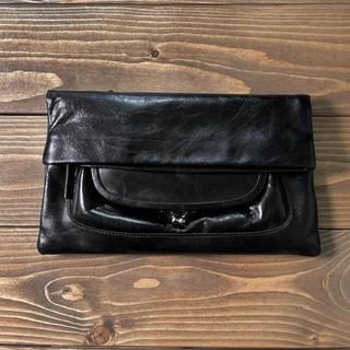 Yohji Yamamoto - ヨウジヤマモト ワイズy's ガマ口 レザー ポーチ 長財布 バッグ