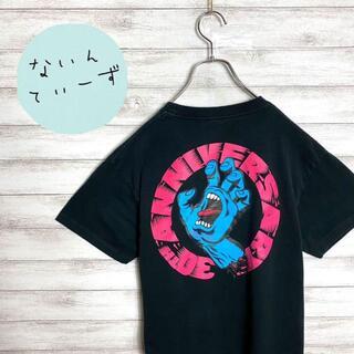 【入手困難】90sサンタクルーズ ワンポイント バックプリント ブラックTシャツ(Tシャツ/カットソー(半袖/袖なし))