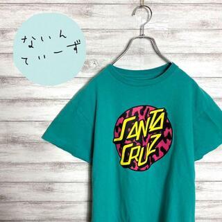 【入手困難】サンタクルーズ くすみグリーン デカロゴ Tシャツ(Tシャツ/カットソー(半袖/袖なし))