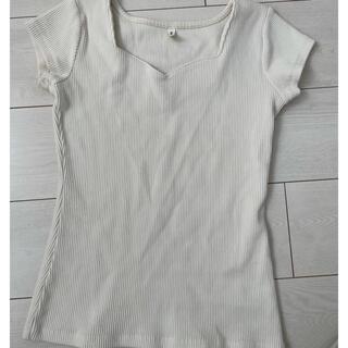 ロイヤルパーティー(ROYAL PARTY)のROYAL PARTY 白Tシャツ/白カットソー(Tシャツ(半袖/袖なし))